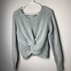 grey knot sweater